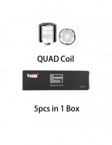 Yocan Loaded Replacement Coil Quad Coil/QDC Coil Loaded QUAD Coil 5pcs:0 US