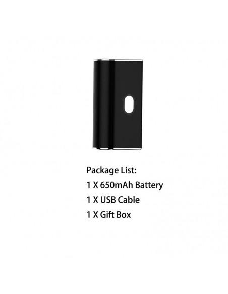 Airistech Airis Janus 510 Thread Battery Box Mod For CBD Oil/THC/Pods 650mAh Black Kit 1pcs:0 US