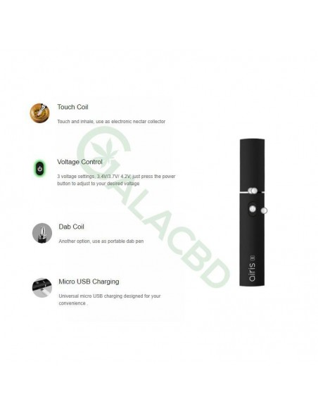 Airistech Airis 8 Vaporizer For Dab/Wax Vape 2in1 Dip/Dab Heating 2
