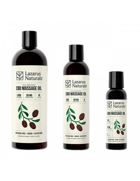 Lazarus Naturals Topical CBD Massage Oil 0