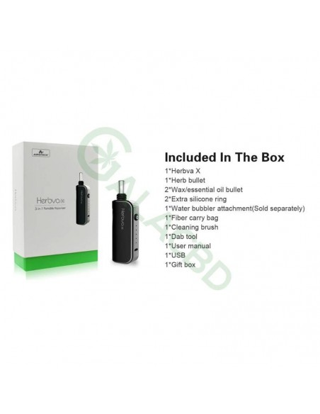 Airistech Herbva X 3in1 Vaporizer For Dry herb/Wax/CBD Oil 1000mAh 1