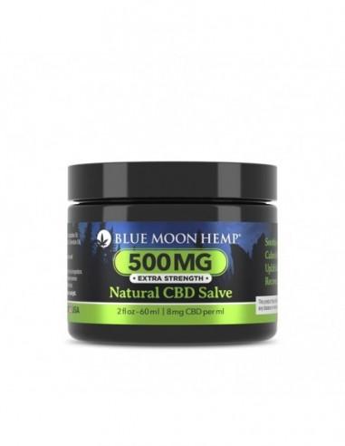 Blue Moon Hemp Topical CBD Salve Natural 2oz 500mg 1pcs:0 US