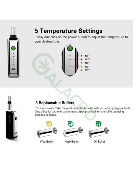 Airistech Herbva X 3in1 Vaporizer For Dry herb/Wax/CBD Oil 1000mAh 3
