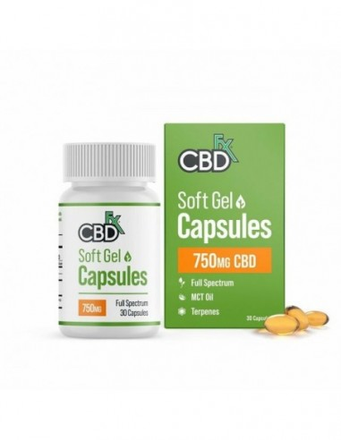 CBDfx CBD Capsules 30 Count Bottle 30 Count 25mg 1pcs:0 US