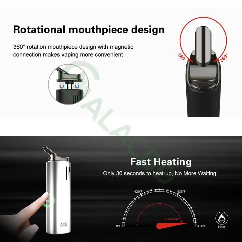 Airistech Switch 3in1 Vaporizer For Dry herb/Wax/CBD Oil 2200mAh 2
