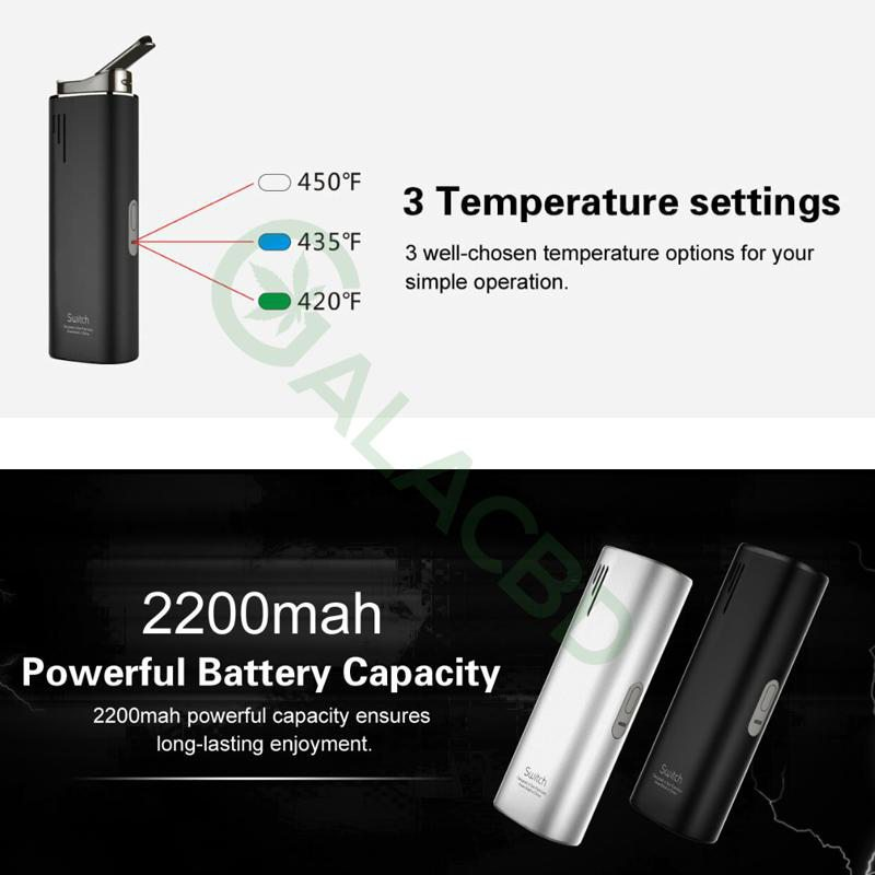 Airistech Switch 3in1 Vaporizer For Dry herb/Wax/CBD Oil 2200mAh 5