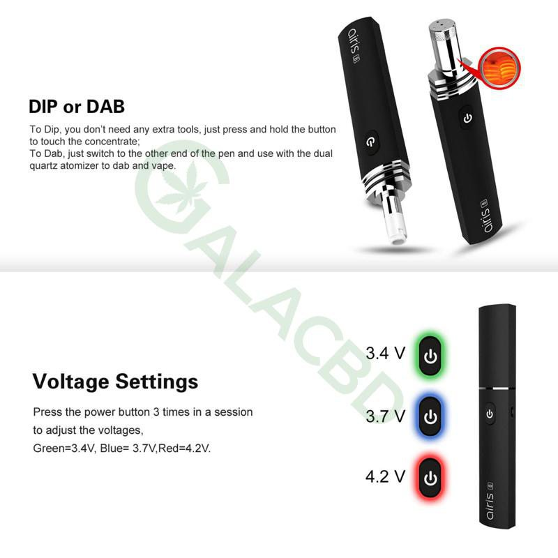Airistech Airis 8 Vaporizer For Dab/Wax Vape 2in1 Dip/Dab Heating 4