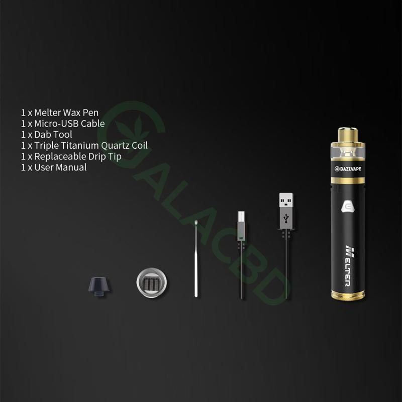 Dazzvape Melter Dab Pen/Wax Pen Vape Kit For Concentrate 1400mAh 1