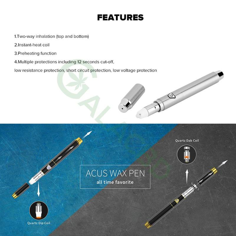 Dazzvape Acus Wax Vaporizer/Dab Pen Kit For Concentrate 350mAh 5