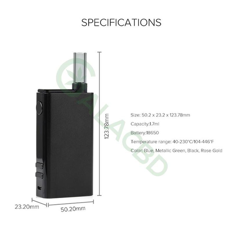 Flowermate V5 Nano 3in1 Dry Herb Vaporizer For Weed/Wax/CBD Oil 18650 2500mAh 3