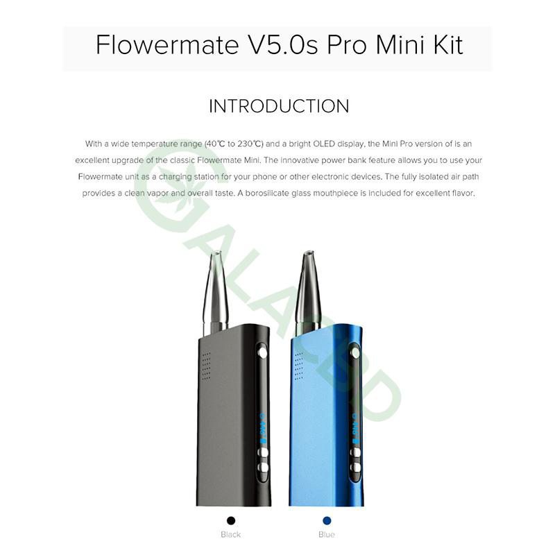 Flowermate V5.0s Pro Mini 3in1 Dry Herb Vaporizer For Weed/Wax/CBD Oil 1800mAh 2