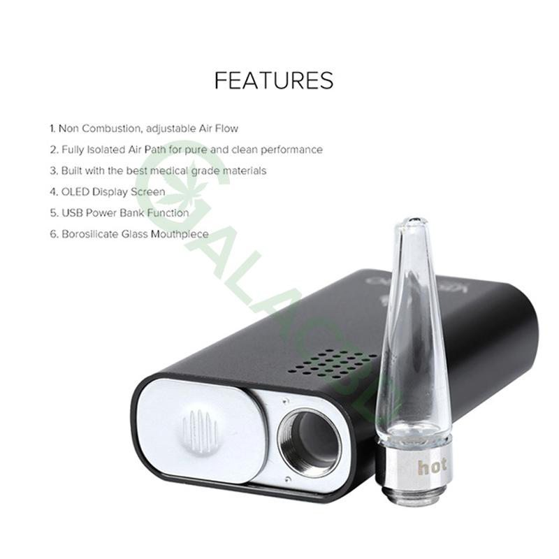 Flowermate V5.0s Pro Mini 3in1 Dry Herb Vaporizer For Weed/Wax/CBD Oil 1800mAh 4