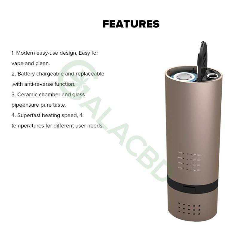 Vapor Source VS7 Dry Herb Vaporizer For Weed 18650 4
