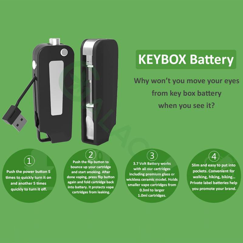 BBTANK Key Pod Box 510 Thread Battery For CBD Oil/THC/Wax 350mAh 3