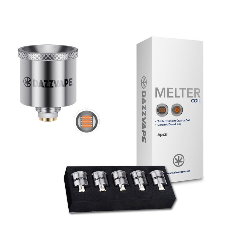 Dazzvape Melter Triple Titanium Quartz Coil For Wax Vaporizer 0
