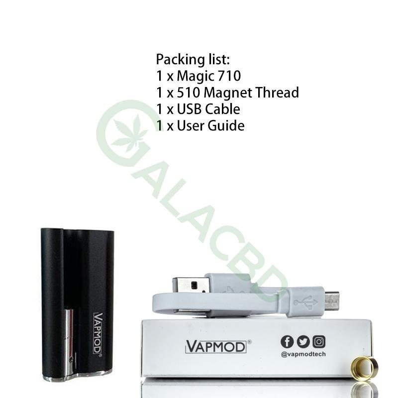VAPMOD Magic 710 Mod Battery For CBD Oil/THC/Wax 510 Cartridge 380mAh 1