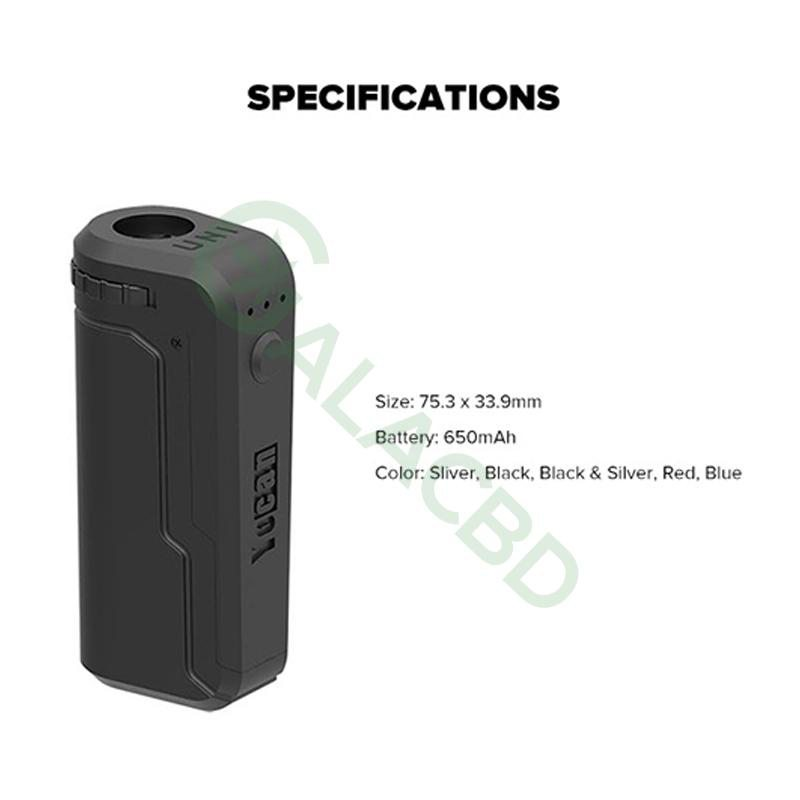 Yocan UNI Box Mod Magnetic 510 Thread Battery For CBD Oil/THC/Wax 650mAh 3