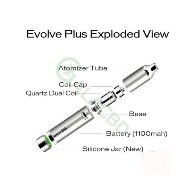 Yocan Evolve Plus Wax Vaporizer Pen Kit For CBD Concentrate 1100mAh 2
