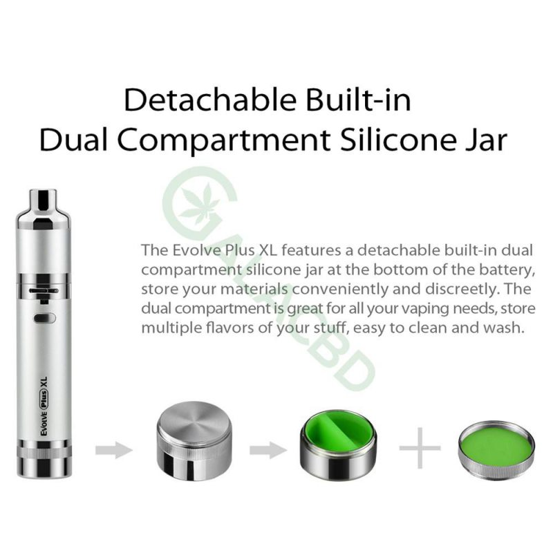 Yocan Evolve Plus XL Dab/Wax Pen Kit For CBD Concentrate 1400mAh 9