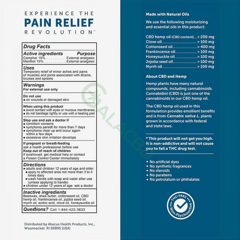 CBDMEDIC Topical CBD Active Sport Pain Relief Stick 1