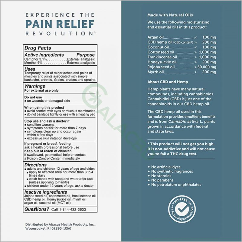 CBDMEDIC Topical CBD Massage Therapy Pain Relief Oil 1
